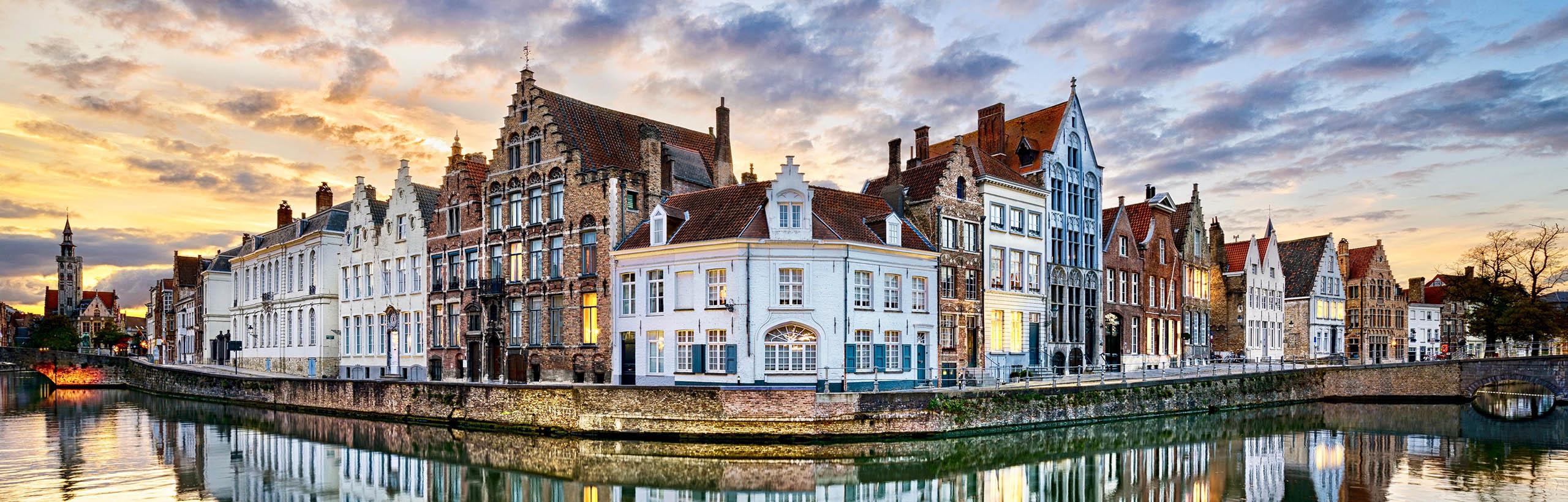 Brugge water avond